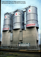 Castle Cement silos and loco @ Middlesborough Goods 89-07-28 � Paul Bartlett w