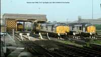General view type 37s @ Ripple Lane TMD 93-05-01 � Paul Bartlett w