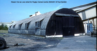 Nissen Hut Loco shed @ Rugby Cement works 91-04-28 � Paul Bartlett w