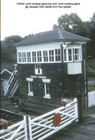 Pinfold Level crossing signal box @ Uttoxeter NSR 78-08-06 � Paul Bartlett w