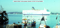 Sealink British Ferries passes Harwich 87-01-31 � Paul Bartlett w