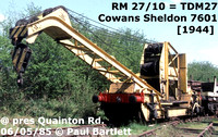 Cowan Sheldon 6 1/2 and 10 ton hand cranes on BR ZZO