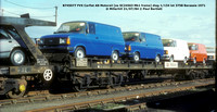Motorail Carflat wagons, ramps and coaches FVX FVV NVV FVX