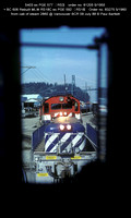 S403   606 from cab of steam 2860 @ Vancouver BCR 09 July 88 � Paul Bartlett w