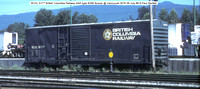 BCOL 5177 British Columbia box car @ Vancouver BCR 09 July 88 � Paul Bartlett w