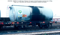 BPO67095 = SMBP602 TTA 32.66t Class A Petroleum Tank wagon air brake Design code TT026X BRSc 3400 Pickering 1967 @ Margham 86-08-24 © Paul Bartlett w