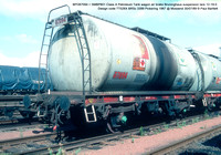 BPO67094 = SMBP601 Class A Petroleum Tank wagon air brake Design code TT026X BRSc 3399 Pickering 1967 @ Mossend 89-07-30 © Paul Bartlett w
