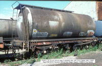 PR55217 Petroleum ex Elf VIP Class A tank @ Stoke Wagon Repairs 85-08-24 � Paul Bartlett w
