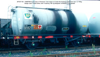 BPO67195 = SMBP699 32.5t Class A Petroleum Tank wagon air brake Design code TT026X BRSc 3491 Pickering 1967 @ Margham 86-08-24 © Paul Bartlett w