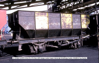21 21ton LNER design riveted Internal @ Grimethorpe Coalite 88-04-13 � Paul Bartlett w