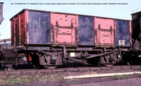 66 = B316029 rebodied 2 door Internal @ Grimethorpe Coalite 88-04-13 � Paul Bartlett w