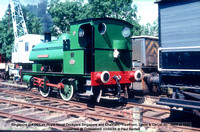 Singapore 0-4-0ST ex Royal Naval Dockyard, Hawthorn Leslie no.  3865 of 1935 conserved @ Rutland Railway Museum, Cottesmore 88-08-07 © Paul Bartlett w