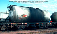 BPO67465 = SMBP1644 33.000t Class A Petroleum Tank wagon air brake Design code TT026X Regd BRSc 2355 Pickering 1966 @ Millerhill 84-07-24 © Paul Bartlett w