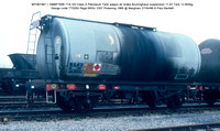BPO67467 = SMBP1646 TTA 32t Class A Petroleum Tank wagon air brake Design code TT026X Regd BRSc 2357 Pickering 1966 @ Margham 86-04-27 © Paul Bartlett w
