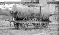 SMBP2065 tank wagon with Steel frame, riveted tank, bracing wires Built 1915 @ Tunnel Cement, Pitstone Tring 26-01-91 © Paul Bartlett [03w]