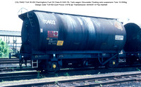 CGL70402 TUA Charringtons Fuel Oil Class B GAS OIL Tank wagon Gloucester Floating axle suspension Design code TU016A built Procor [1979] @ Thameshaven 87-05-30 © Paul Bartlett w