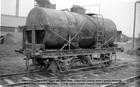 SMBP2065 tank wagon with Steel frame, riveted tank, bracing wires Built 1915 @ Tunnel Cement, Pitstone Tring 26-01-91 © Paul Bartlett [01w]