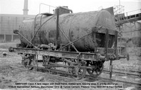 SMBP2065 tank wagon with Steel frame, riveted tank, bracing wires Built 1915 @ Tunnel Cement, Pitstone Tring 26-01-91 © Paul Bartlett [04w]