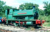 Sir Thomas Royden 0-4-0ST ex West Midlands Power station built Andrew Barclay 2088 in 1940 conserved @ Rutland Railway Museum, Cottesmore 88-08-07 © Paul Bartlett w
