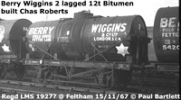 Berry Wiggins tank wagons on BR