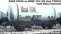 Shell and British Petroleum 4-wh LPG tank wagons on BR