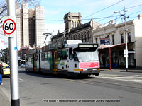 2116 Route 1 Melbourne tram 21 September 2014 © Paul Bartlett [2]