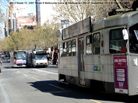 3513 Route 72, 2087 Route 8 Melbourne trams @ Melbourne CBD 21 September 2014 © Paul Bartlett