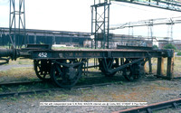 452 flat with independent brak S.W.RAIL WAGON internal use @ Corby BSC 87-06-07 © Paul Bartlett w