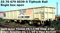 Tiphook rail bogie box, international registered 33 70 679 00xx