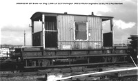 B950926 Brake van @ Hitchin engineers 76-02-22 © Paul Bartlett w