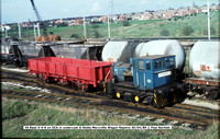 45 Basil 0-4-0 @ Stoke Marcrofts Wagon Repairs 89-04-20 � Paul Bartlett w