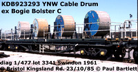BR Bogie Bolster C - as cable drum carrier YNV YNW YNP