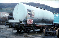 23 70 7397 101-0 = STS 101-7 TSL UFH Tank wagon @ Swansea Marcrofts works 91-03-09 � Paul Bartlett w