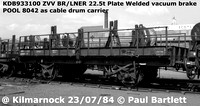 BR Plate wagons - as Cable drum wagons ZVV