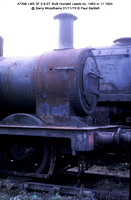 Steam Locos rotting at Barry Woodhams 1 Nov 1970