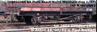 BR Plate wagons - as Reach wagons ZSR