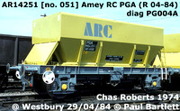 Amey Roadstone aggregate hopper wagons early 1970s designs PGA