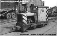 444199 RH narrow gauge 87-04-24 Cynheidre Colliery © Paul Bartlett [2W]