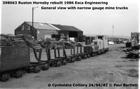398063 RH narrow gauge 87-04-24 Cynheidre Colliery © Paul Bartlett [2w]