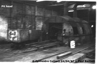 Pit head 87-04-24 Cynheidre Colliery © Paul Bartlett [2W]