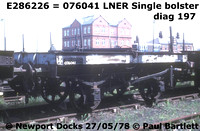 LNER single bolster and other steel carrying wagons