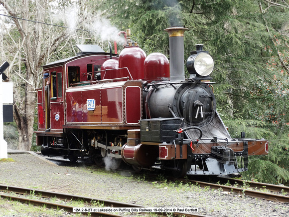 12A at Lakeside on Puffing Billy Railway 19-09-2014 � Paul Bartlett [6]