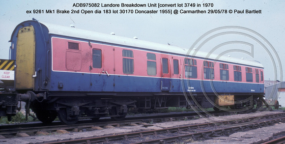 ADB975082 Landore Breakdown Unit @ Carmarthen 78-05-29 � Paul Bartlett w