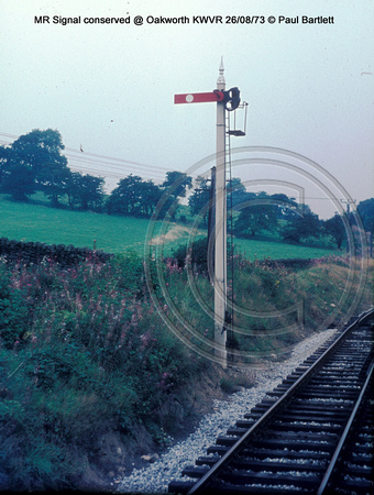 signal MR Conserved @ Oakworth KWVR 73-08-26 � Paul Bartlett w