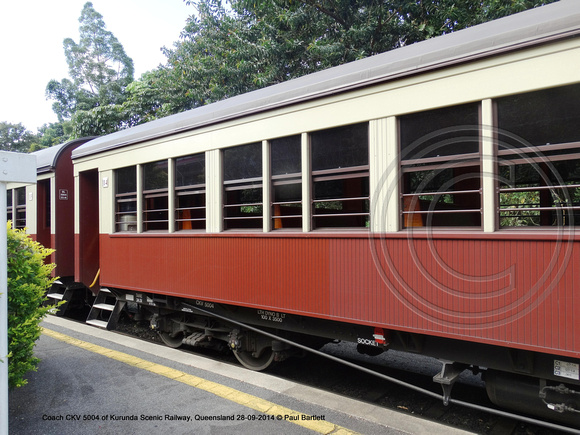 Coach CKV 5004 of Kurunda Scenic Railway, Queensland 28-09-2014 � Paul Bartlett DSC06305