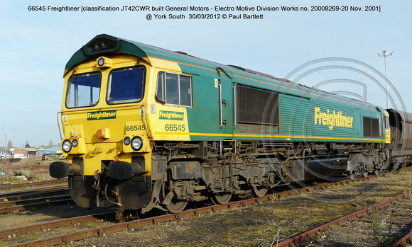 66545 Freightliner @ York South  2012-03-30 � Paul Bartlett [2w]