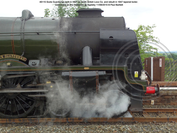 46115 Scots Guardsman Conserved on the Dalesman @ Appleby 2015-08-11 © Paul Bartlett [04]