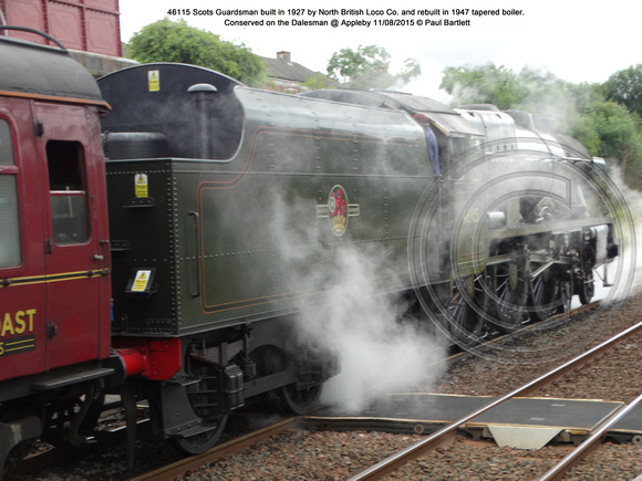46115 Scots Guardsman Conserved on the Dalesman @ Appleby 2015-08-11 © Paul Bartlett [10]