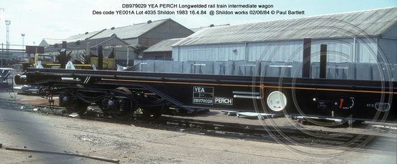 DB979029 YEA PERCH @ Shildon works 84-06-02 � Paul Bartlett [1w]
