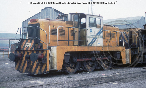 25 Yorkshire 0-6-0 @ Scunthorpe BSC 88-09-21 � Paul Bartlett [1]